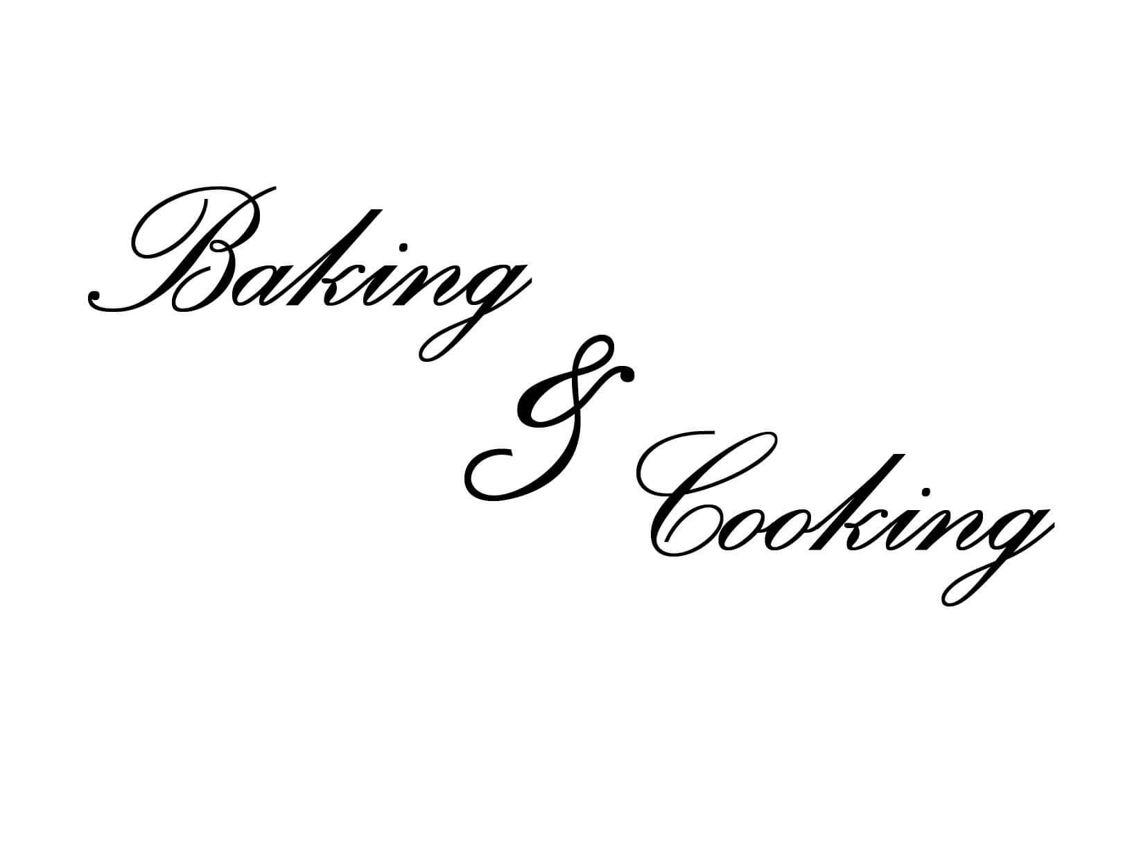 """Muursticker """"Baking & Cooking"""" - Keuken muurstickers"""