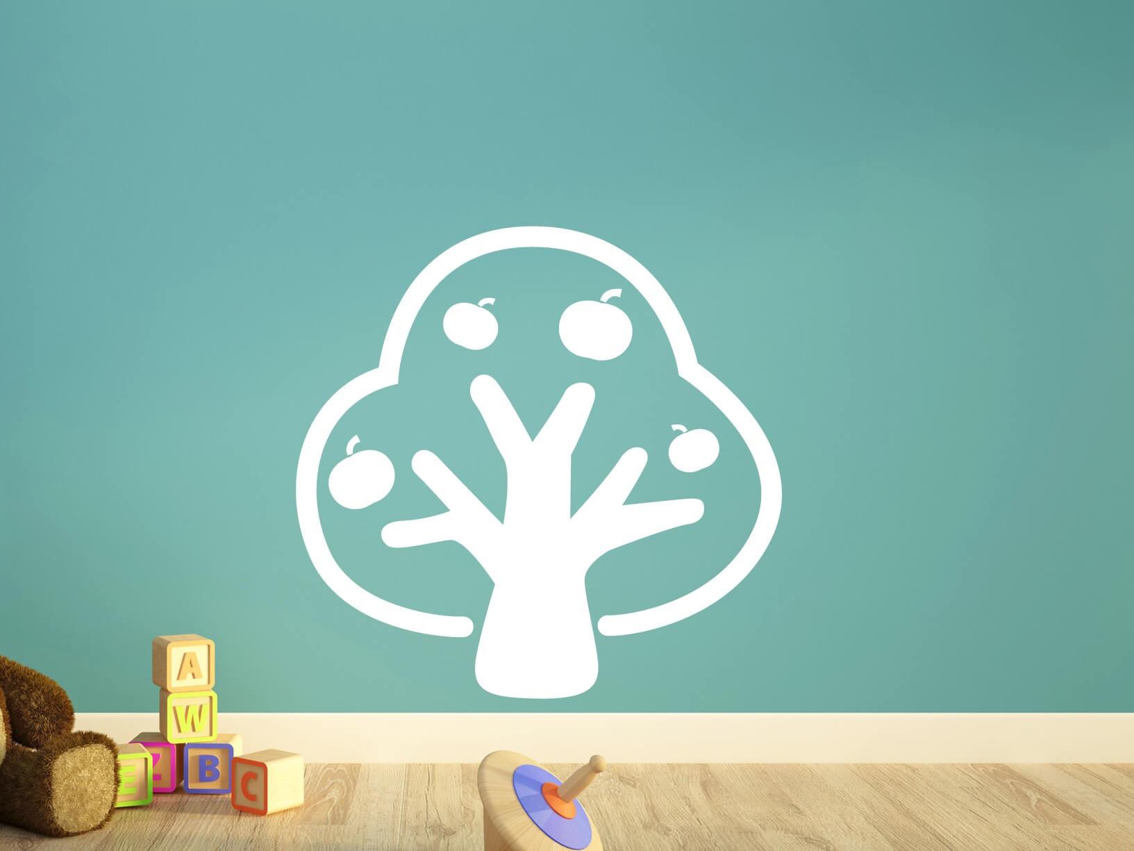 Muurstickers Slaapkamer Bloemen : Muursticker appelboom - Dieren ...