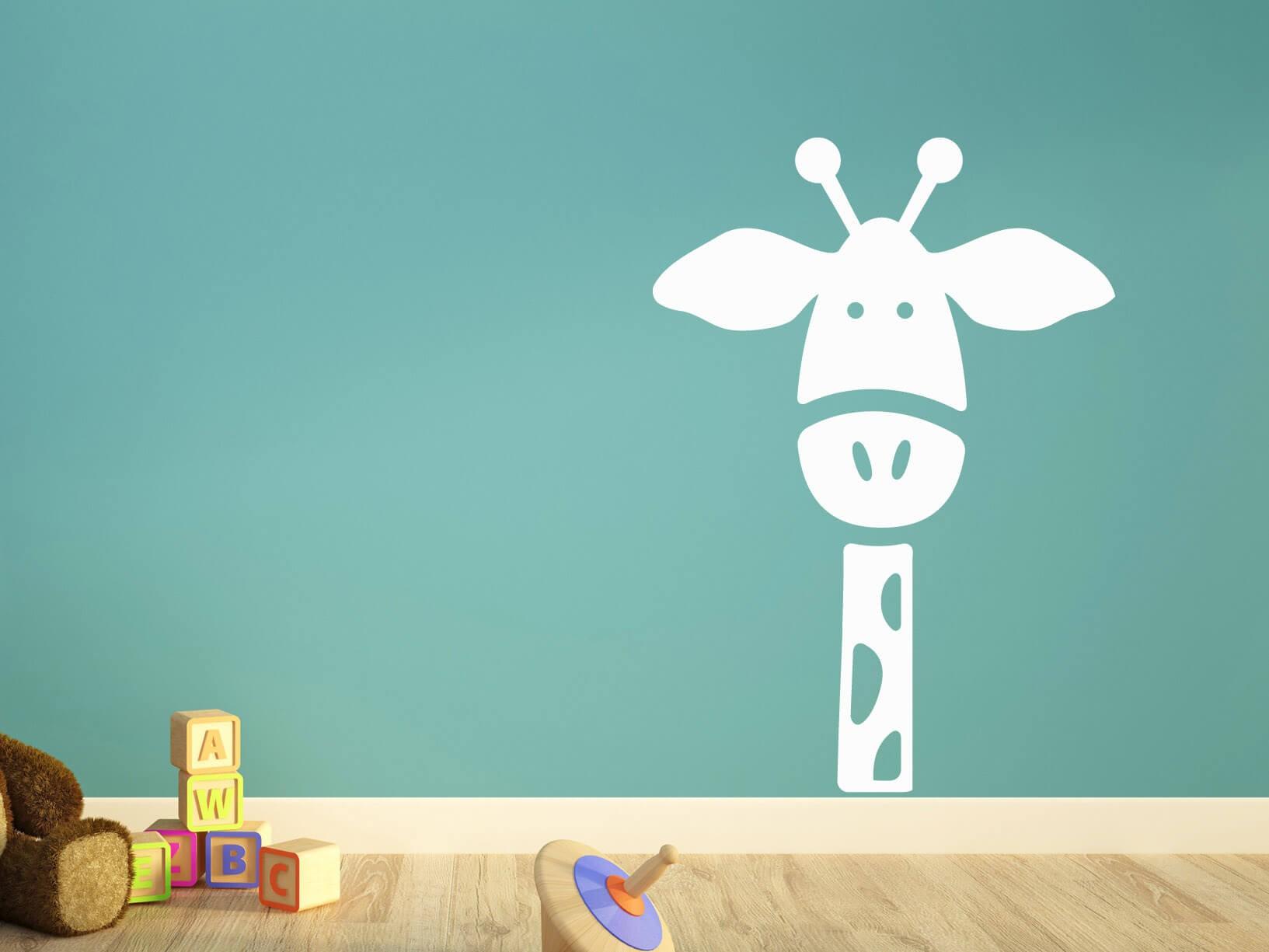 Muurstickers Slaapkamer Bloemen : Muursticker giraffe - Dieren ...