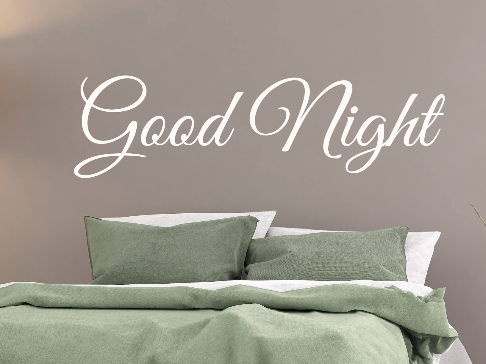 muursticker quotgood nightquot slaapkamer muurstickers