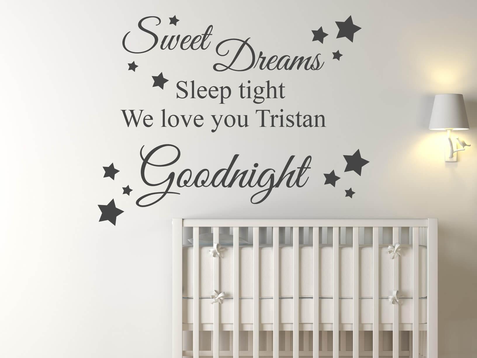 muursticker quotsweet dreams sleep tight we love you