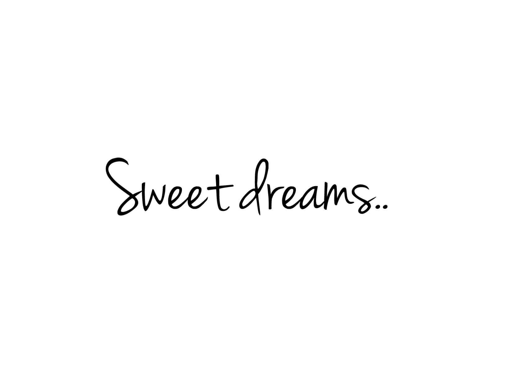 muursticker quotsweet dreamsquot muurstickers