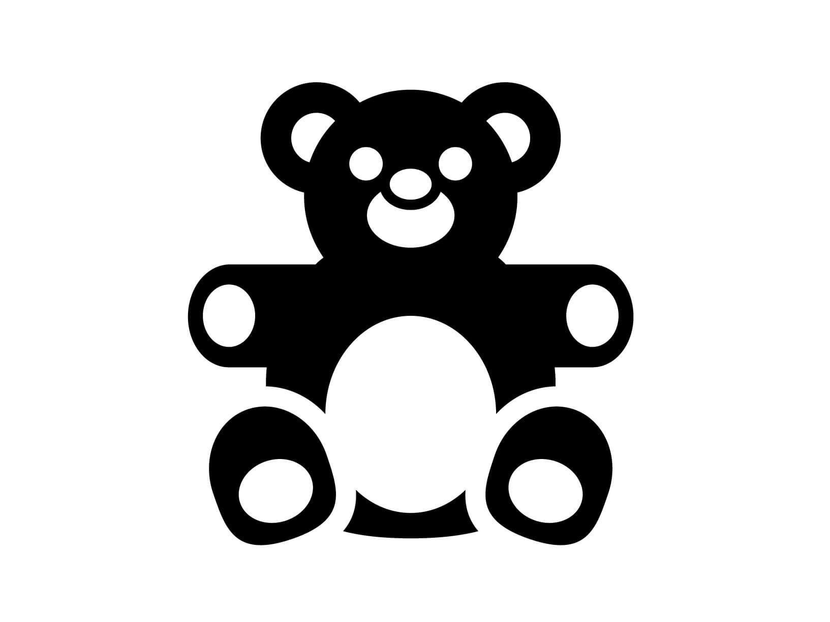 Slaapkamer Bordeaux Rood : Muursticker teddybeer - Kinderkamer ...
