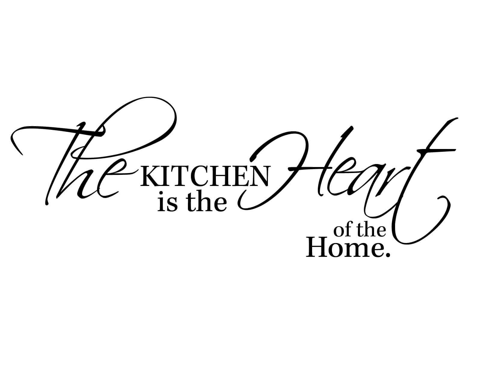 Muursticker The Kitchen Is The Heart Of The Home