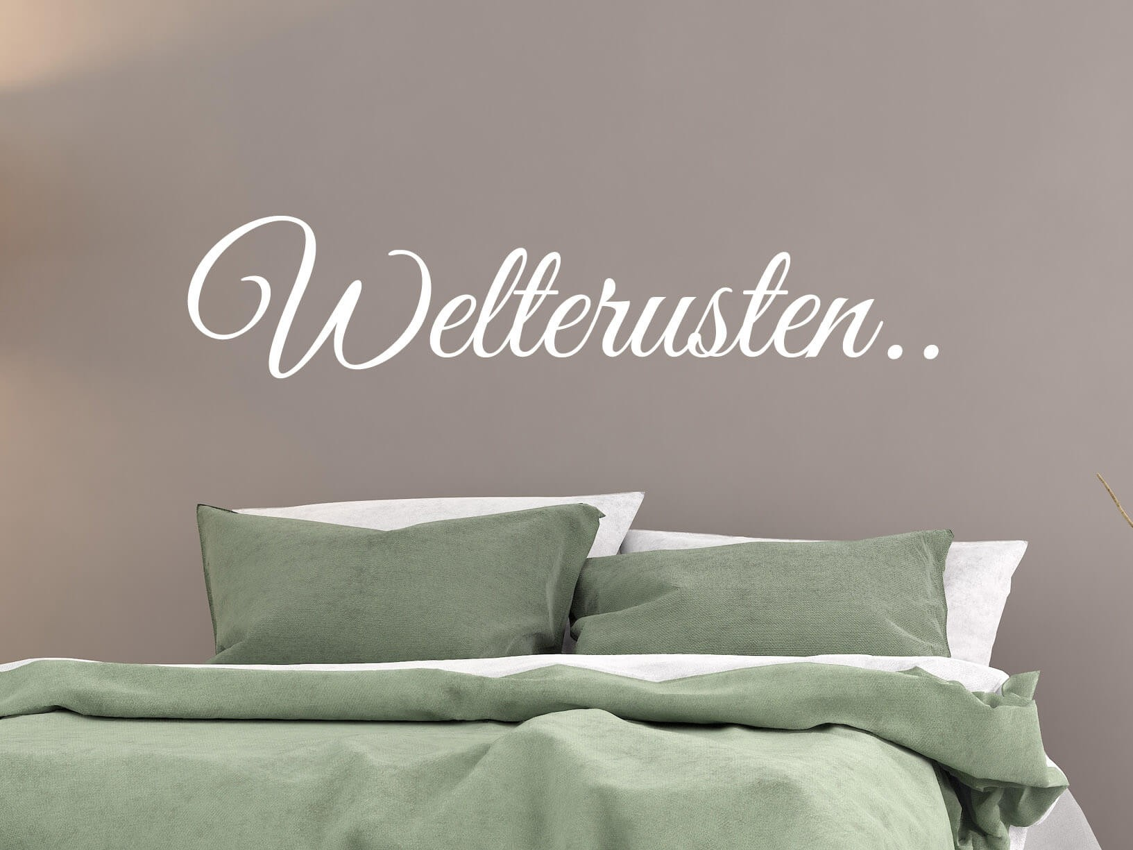 muursticker quotwelterustenquot