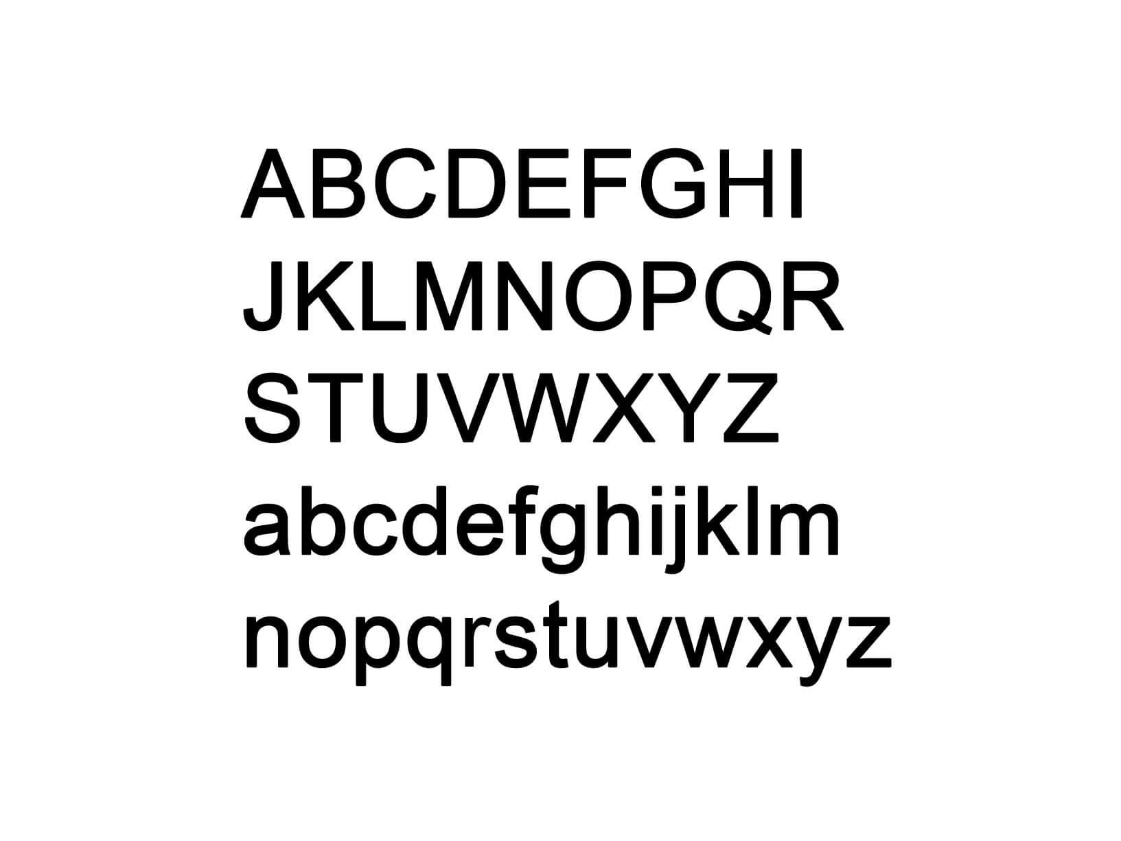 "Muursticker ""Alfabet type 1"""