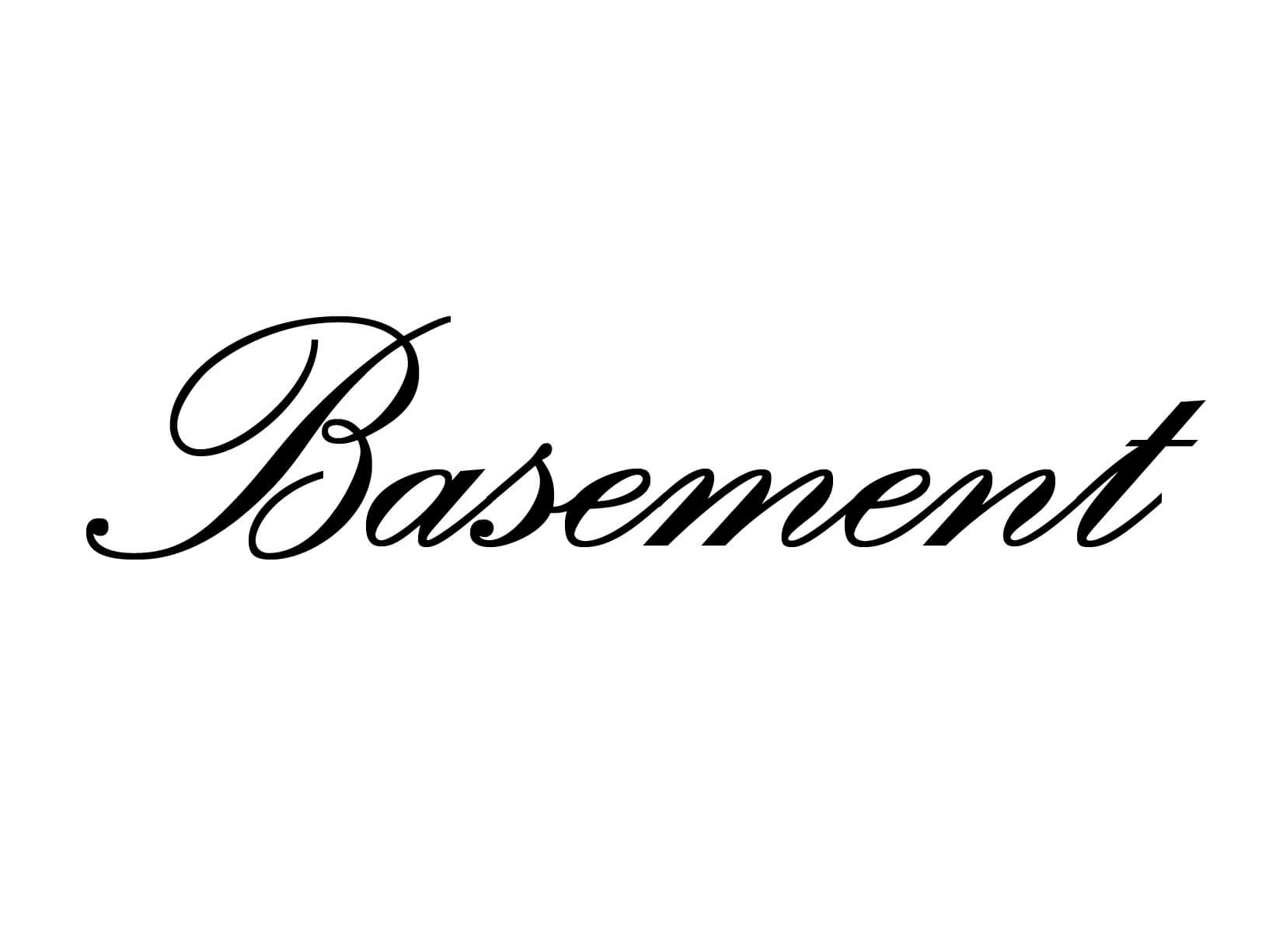 "Deursticker ""Basement"""