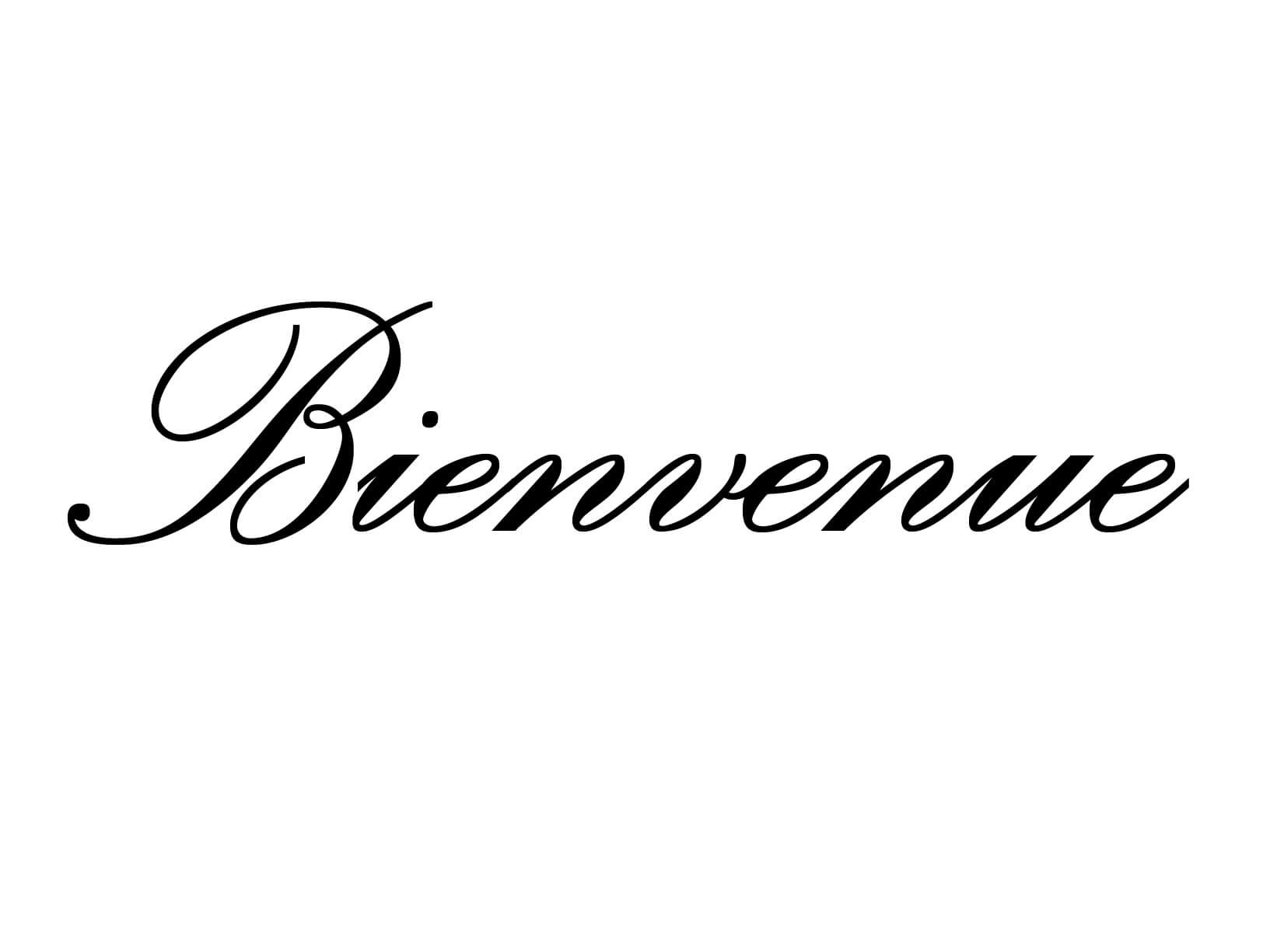 "Deursticker ""Bienvenue"""