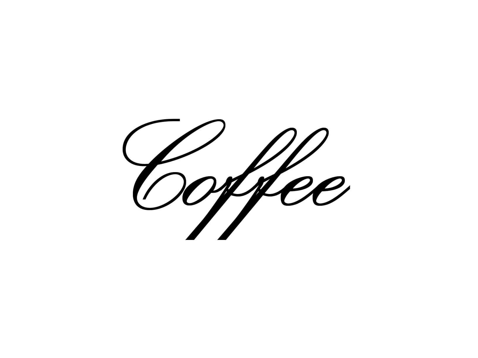 "Meubelsticker ""Coffee"""
