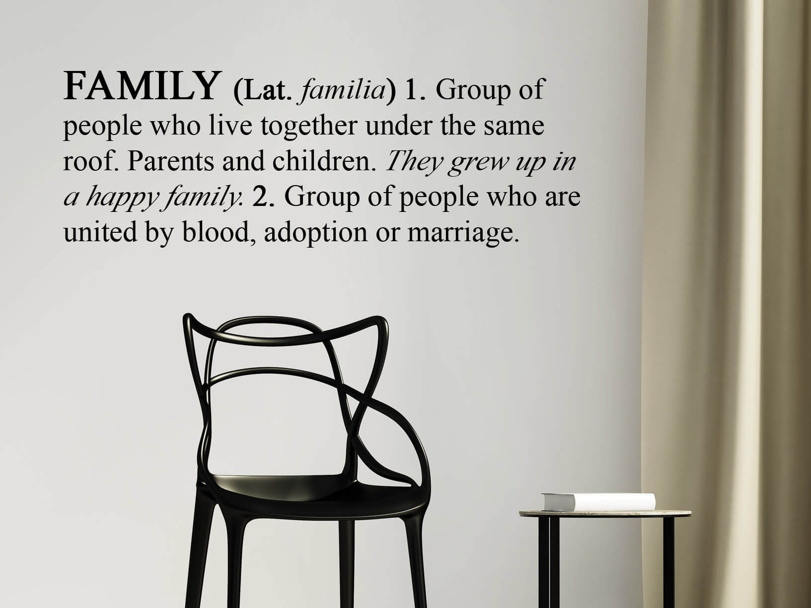 """Muursticker Engelse betekenis van """"Family"""""""