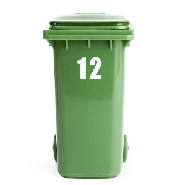 Containersticker huisnummer