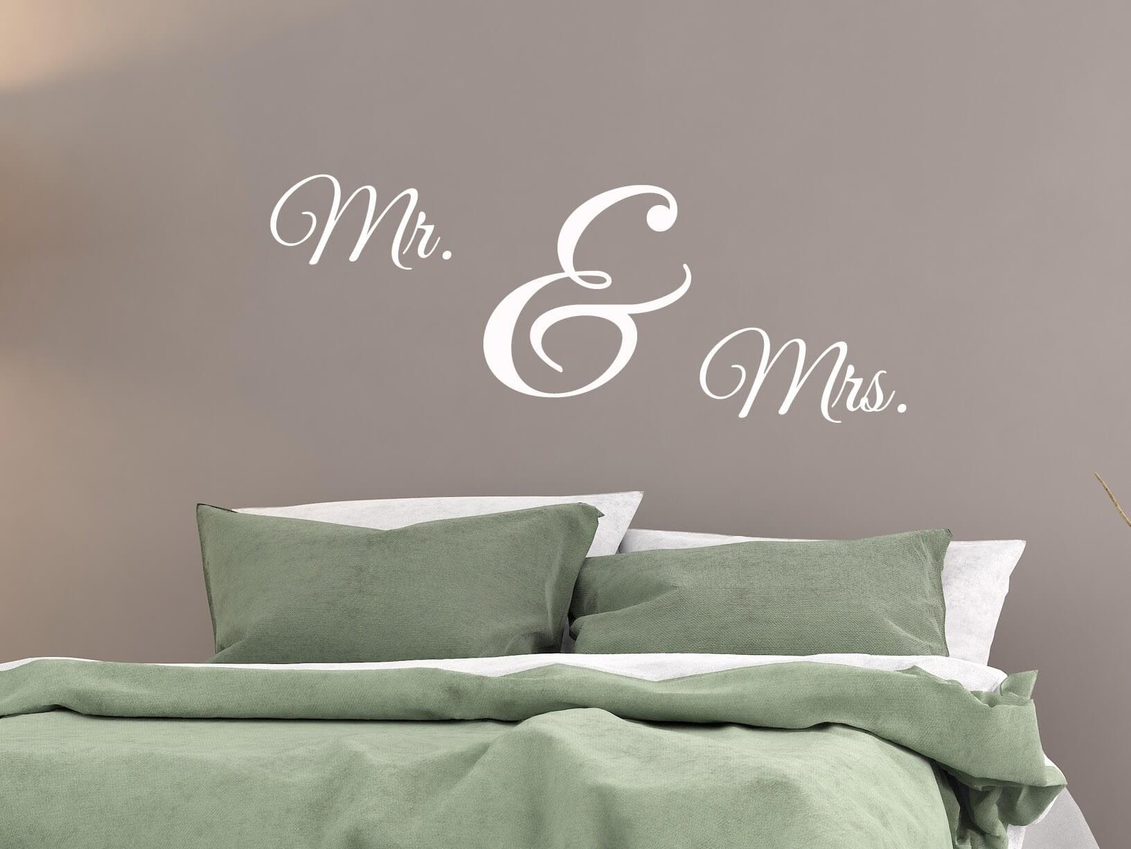 """Muursticker """"Mr. & Mrs."""""""