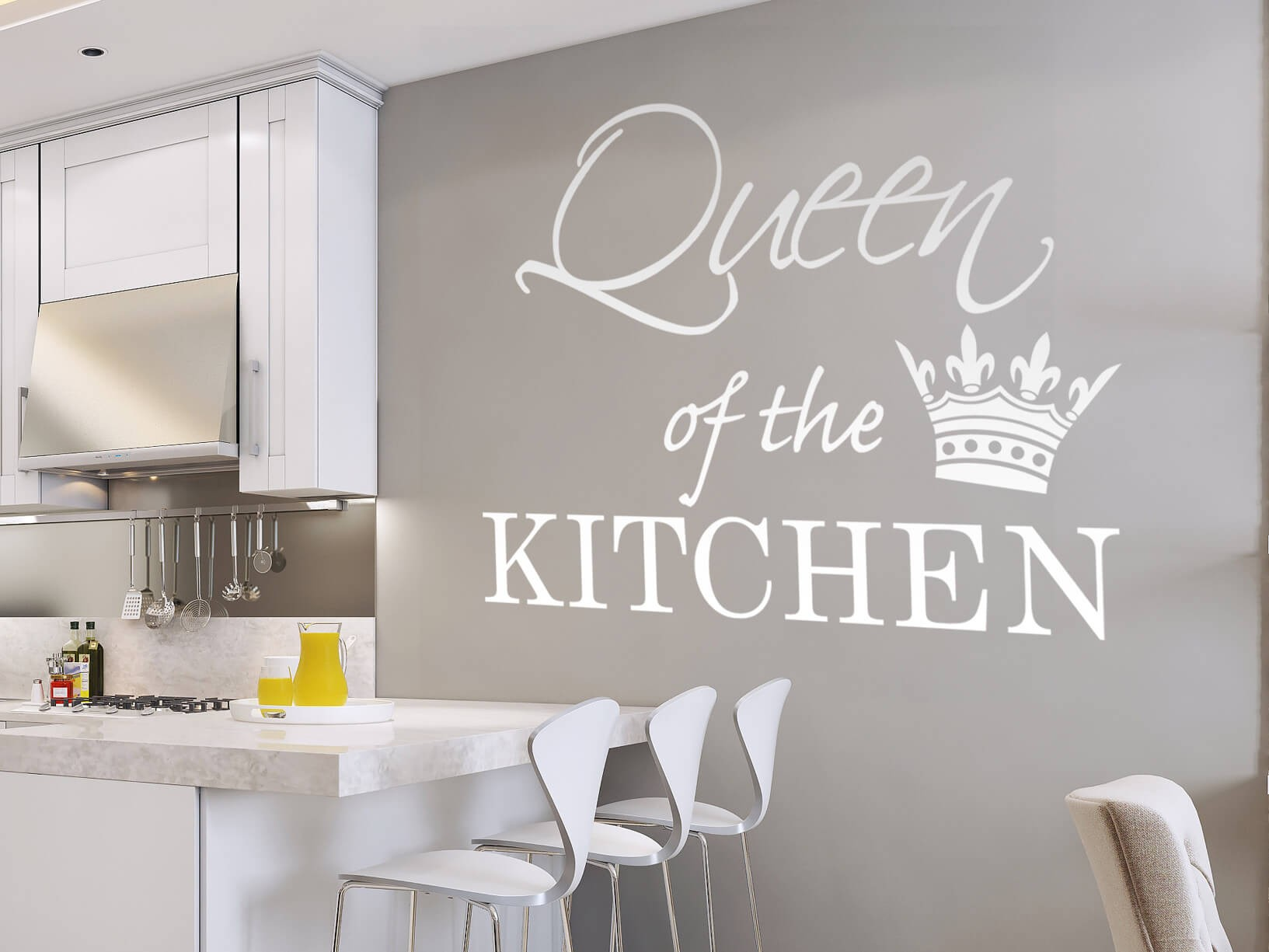 "Muursticker ""Queen of the kitchen"""