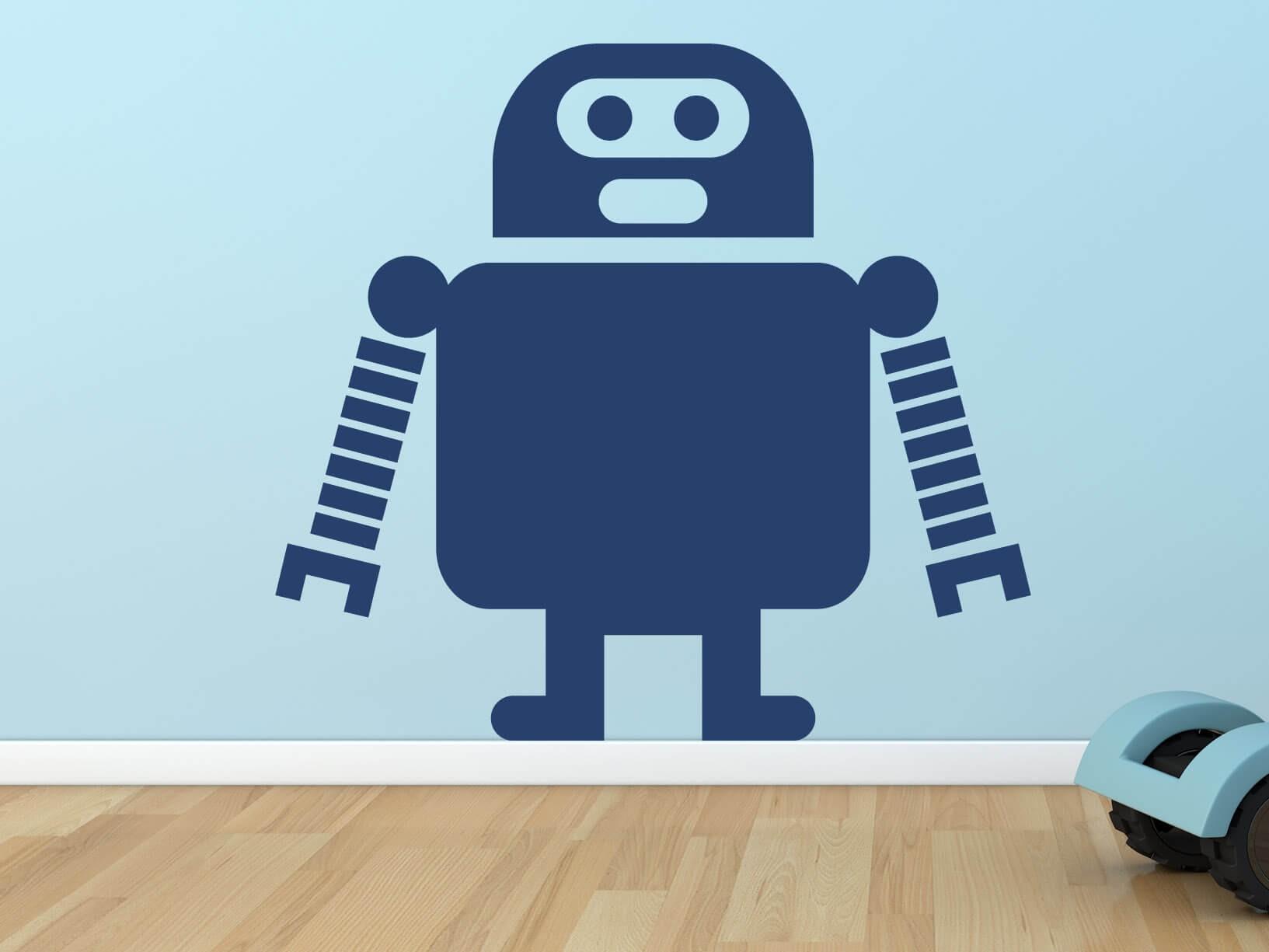 Muursticker robot 5