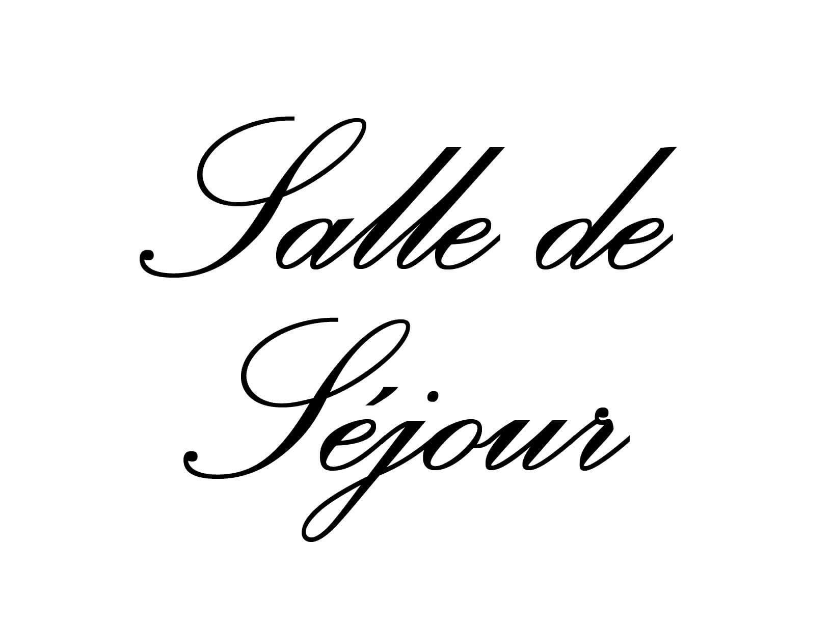 """Deursticker """"Salle de Sejour"""""""