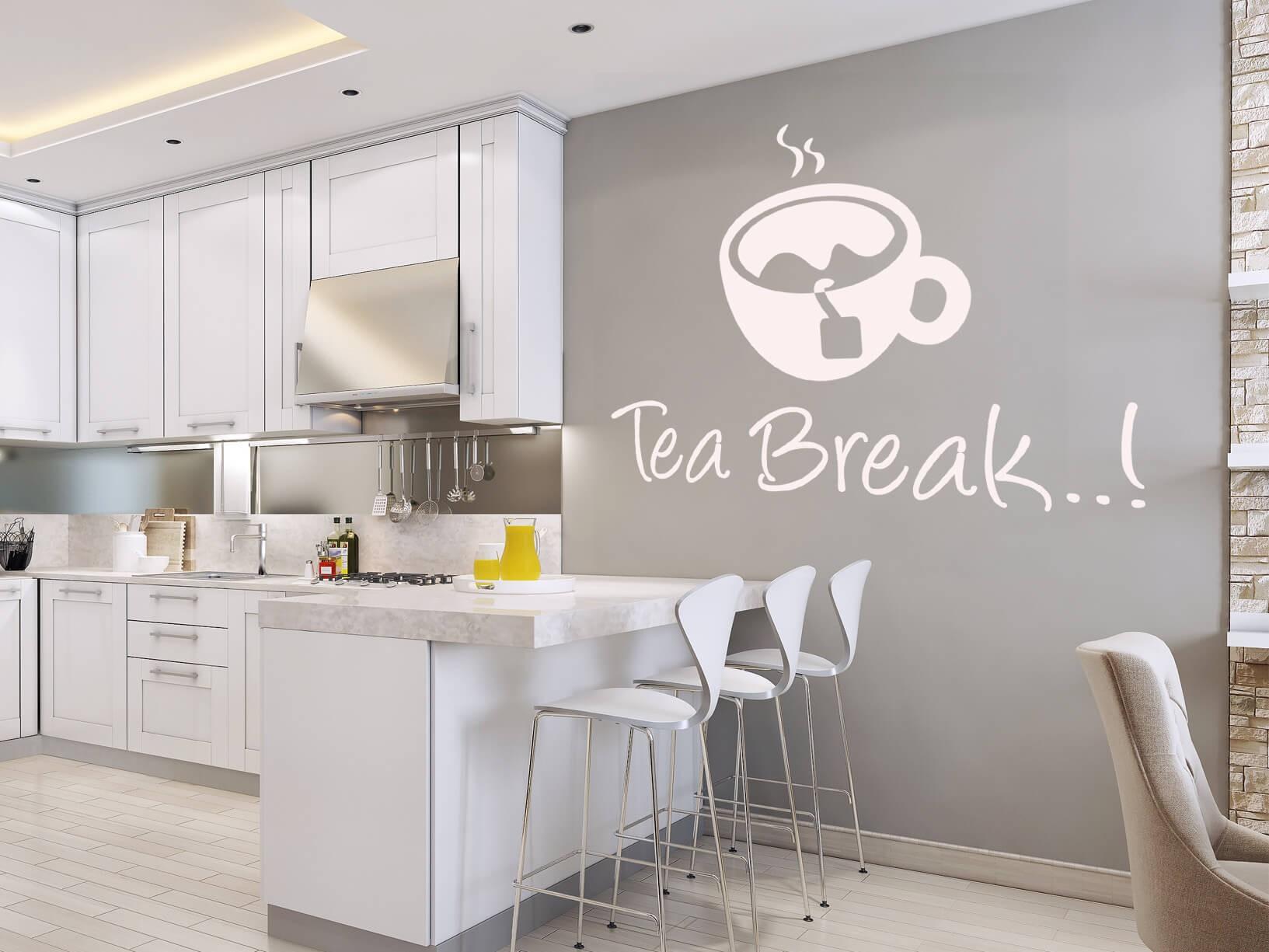 "Muursticker ""Tea break..!"""