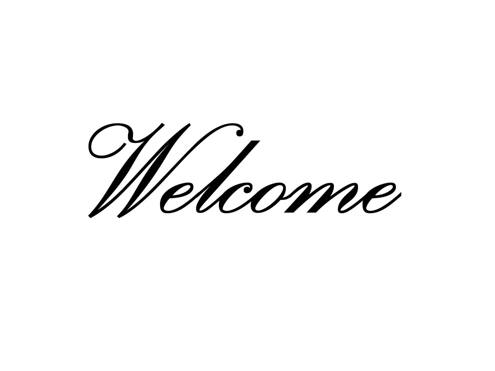 "Meubelsticker ""Welcome"""