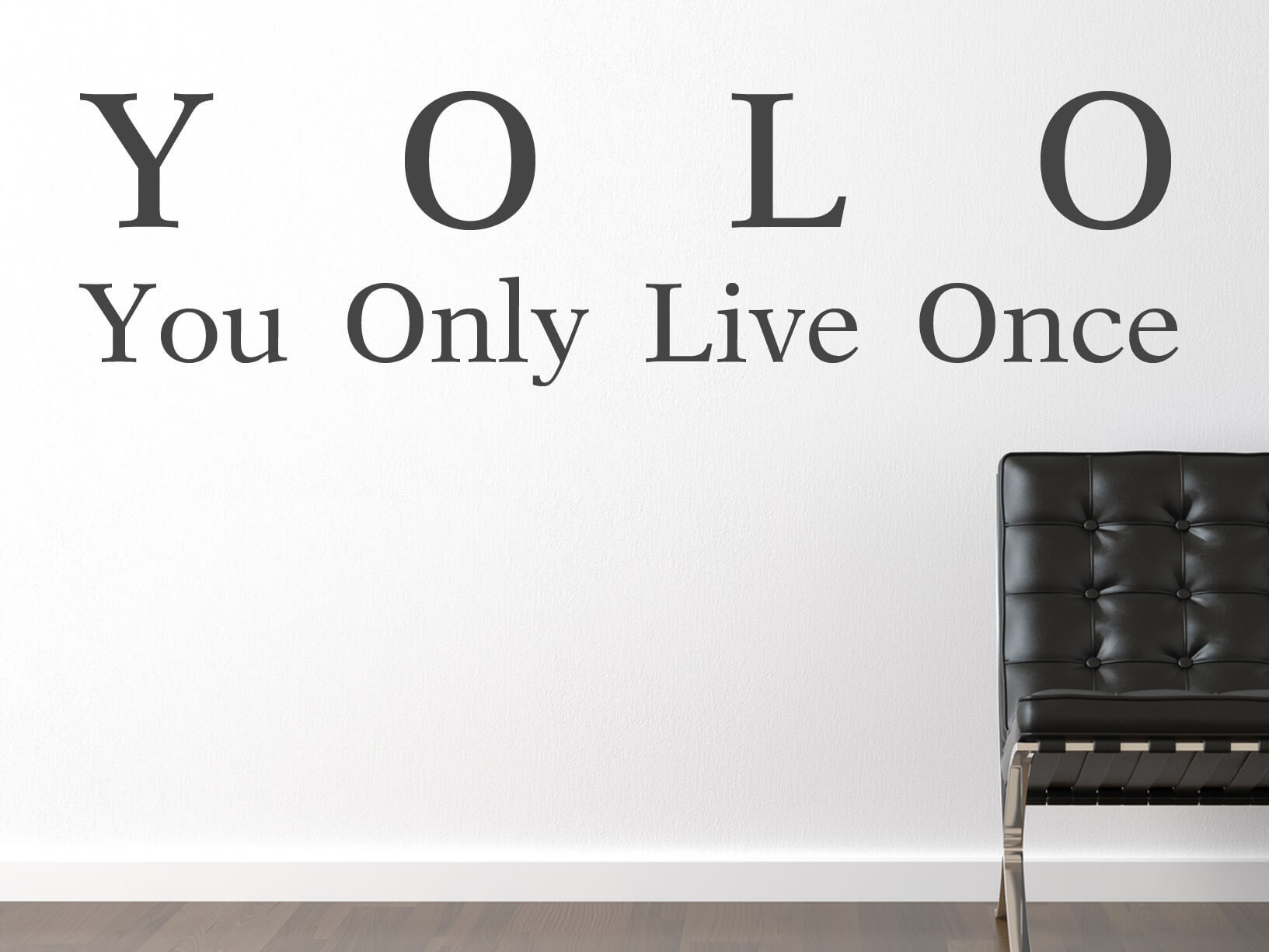 "Muursticker ""YOLO"" You Only Live Once"