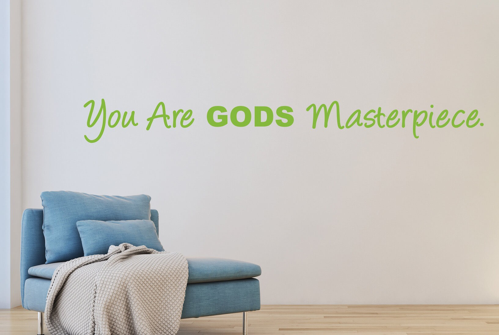 "Muursticker ""You are Gods masterpiece."""