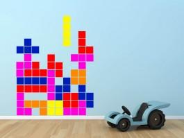 Muursticker Tetris