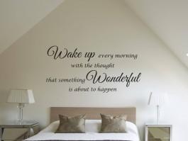 Slaapkamer muurstickers en muurteksten for Slaapkamer decoratie voor volwassenen
