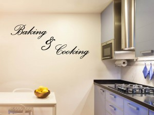 "Muursticker ""Baking & Cooking"""