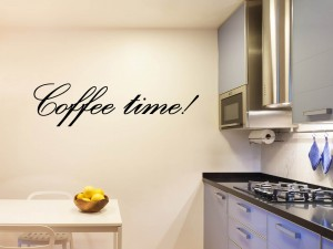 "Muursticker ""Coffee time"""