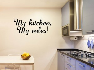 "Muursticker ""My kitchen, my rules!"""