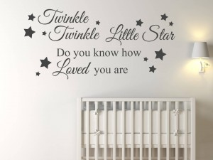 "Muursticker ""Twinkle Twinkle little star"""